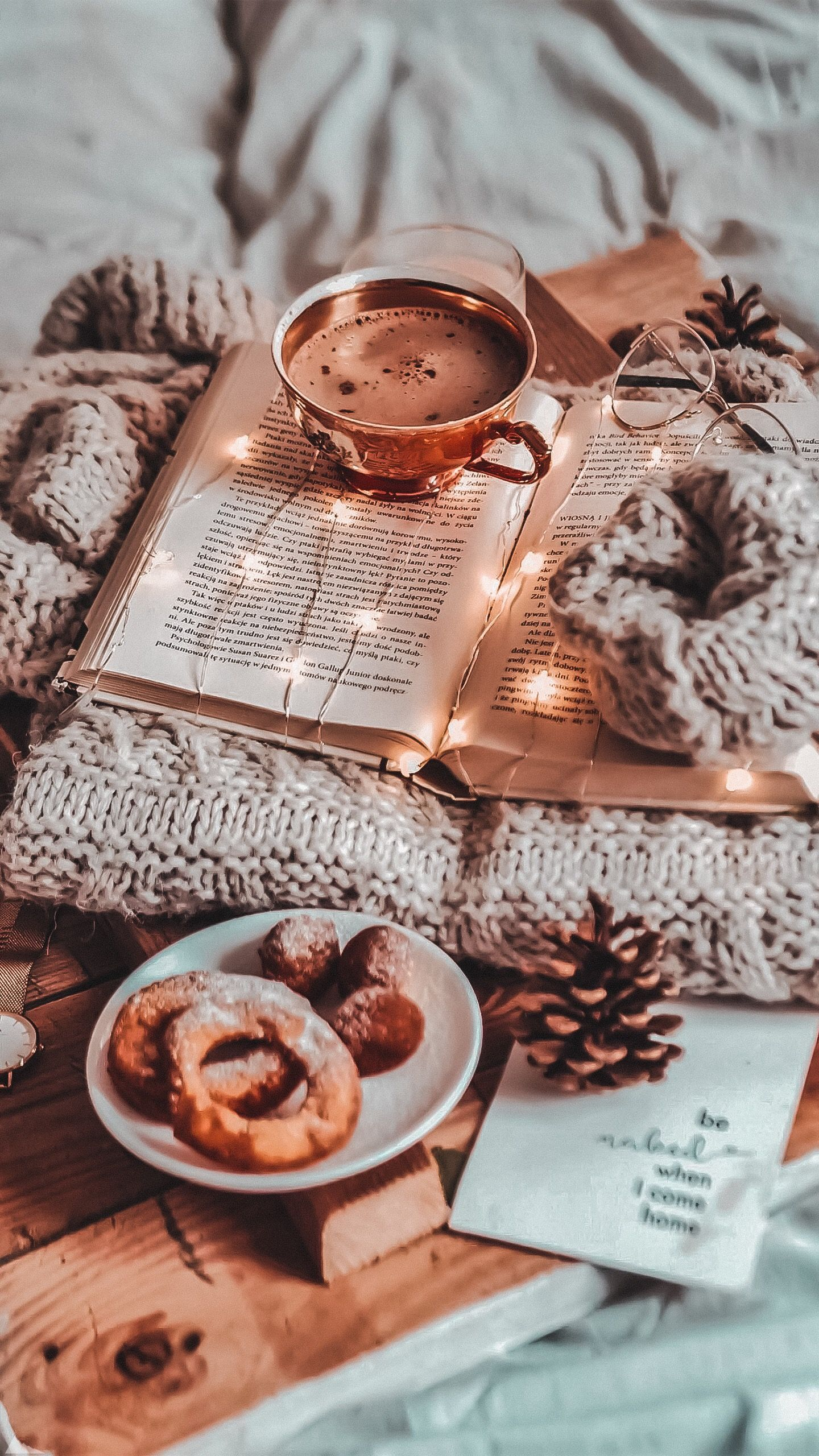 cozy winter iphone wallpaper