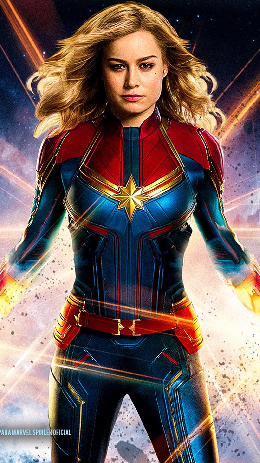 captain marvel phone wallpaper